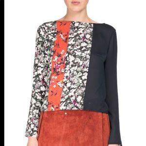 Acne Studios Loretta Mixed Floral-print Silk Top